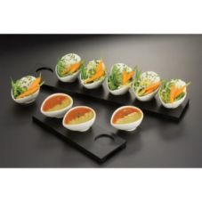American Metalcraft WCT6 6-Sauce Cup Serving Board