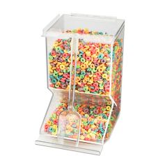 Cal-Mil® 656 Bulk Stackable Clear Cereal Dispenser with Scoop