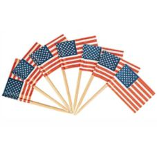 Goldmax American Flag Toothpicks