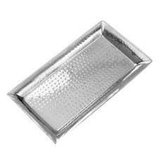 "American Metalcraft HMRT814 Hammered S/S 14-1/8"" Rectangular Tray"