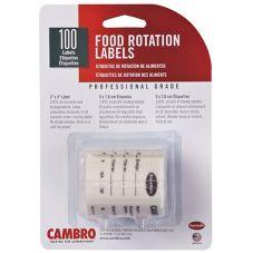 Cambro® 23SL StoreSafe® Food Rotation Labels - 100 / RL