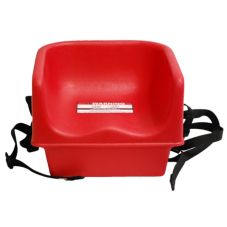 Cambro Hot Red Booster Seat w/ Strap