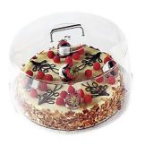 "Cambro® RD1200CW135 Clear Camwear® Round 12"" Cake Cover"
