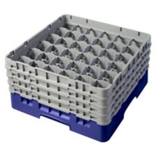 Cambro Camrack® Navy Blue Full Size 36-Compt Glass Rack