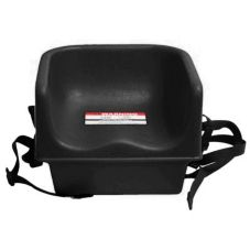 Cambro 100BCS110 Black Single Height Booster Seat With Safety Strap