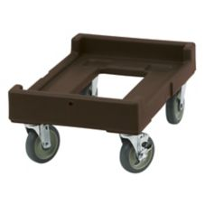 "Cambro CD160131 Dark Brown 16-7/16""  x 24-3/8"" Pan Carrier Camdolly"