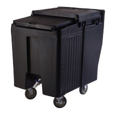 Cambro® ICS125T110 Black Tall Height SlidingLid 125 Lbs. Ice Caddy