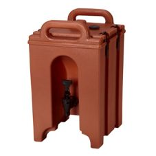 Cambro 100LCD402 Brick Red 1.5 Gallon Camtainer® Beverage Server
