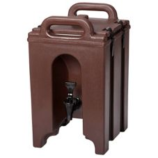 Cambro 100LCD131 Dark Brown 1.5 Gallon Camtainer® Beverage Server