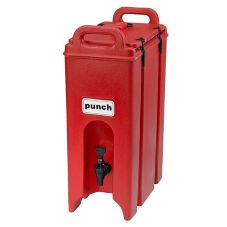 Cambro® 500LCD158 Hot Red 5 Gal Beverage Camtainer®