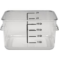Rubbermaid® FG630400CLR Clear Space Saving 4 Qt Square Container