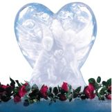 Carlisle® SHR102 Ice Sculptures™ White Heart