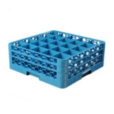 Carlisle® RG25214 OptiClean 25-Compartment Blue Glass Rack
