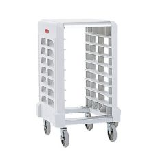 Rubbermaid® FG331500OWHT Max System 8-Slot End Load Prep Cart