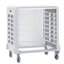 Rubbermaid Max System White 8-Slot Side Load Prep Cart w/Cutting Board