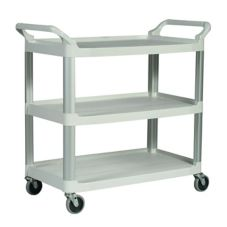 Rubbermaid FG409100OWHT Xtra™ Open Sided 3-Shelf Utility Cart