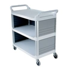 Rubbermaid Xtra™ Off White 3-Side Enclosed Utility Cart