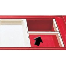 "Cambro® DIV12135 Clear 12"" Food Pan Divider Bar"