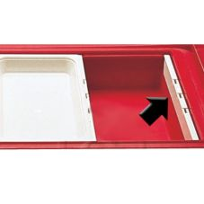 "Cambro® DIV20135 Clear 20"" Food Pan Divider Bar"