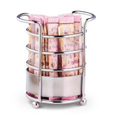 Traex® WR-1025 Round Chrome Sugar Caddy - Dozen