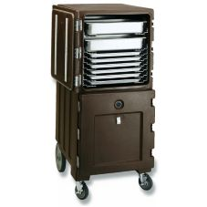 Cambro CMB1826131 Dark Brown 2-Compartment Food Pan Combo Cart™
