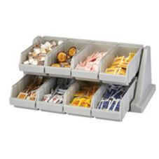 Cambro® 8RS8480 Versa Speckled Gray 8-Bin Organizer Rack