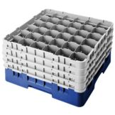 Cambro 36S900186 Camrack® Navy Blue Full Size 36-Compt Glass Rack