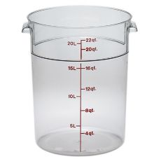 Cambro RFSCW22135 Camwear® Clear Round 22 Qt Storage Container