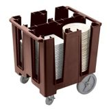 Cambro® DCS1125131 Dark Brown Fixed 4-Column Dish Caddy
