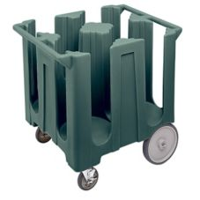 Cambro Granite Gray Fixed 4-Column Dish Caddy