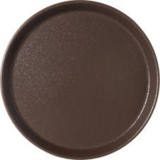 "Carlisle® 1100GR076 Griptite™ 11"" Tan Round Tray"