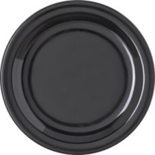 "Carlisle 4350303 Dallas Ware 7-1/4"" Black Salad Plate - 48 / CS"