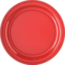 "Carlisle® 4350005 Dallas Ware® 10-1/4"" Red Dinner Plate"
