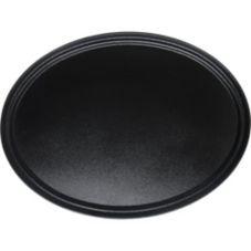"Carlisle® 3100GR004 Griptite™ 31-1/2"" Black Oval Tray"