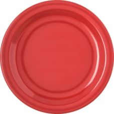 "Carlisle 4350305 Dallas Ware 7-1/4"" Red Salad Plate - 48 / CS"