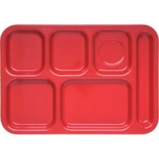 Carlisle® 4398805 Red Right-Hand Compartment Tray - 12 / CS