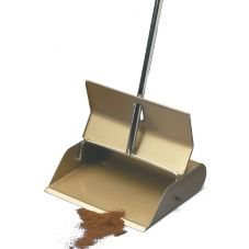 "Steel Lobby Dustpan w/ Steel Handle, 12"" Wide"