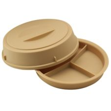 Cambro Beige 3-Compartment Heat Keeper w/ Lid