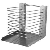 "S/S Pan Rack, 18 Shelves, 10"" x 11"" x 17-1/2"""