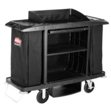 Rubbermaid® FG619000BLA Black Compact Housekeeping Cart