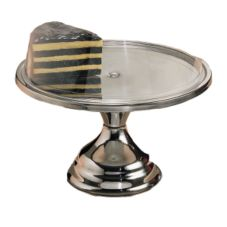 "American Metalcraft Bright S/S Finish 13-1/2"" Cake Stand"