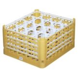 Vollrath 5273255 Gold Full Size XXX-Tall 16-Compartment Glass Rack