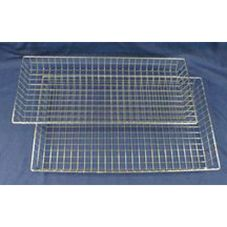 "Industrial Bakery Equipment WS-556 16"" x 26"" x 2"" Wire Nesting Basket"
