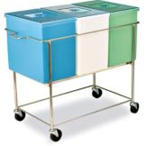 Faribo P444 C/A 3-Compartment 15-3/4 Gallon Bin Assembly