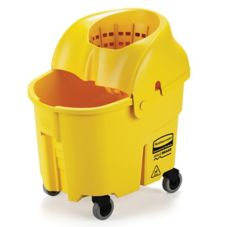 Rubbermaid WaveBrake® Yellow 35 Qt Institutional Wringer Combo