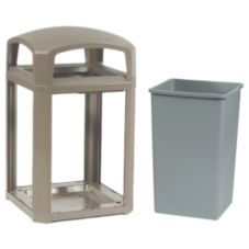 Rubbermaid® FG397000DWOOD Landmark 35 Gal Dome Top Trash Can Frame