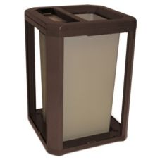 Rubbermaid Landmark Sable 35 Gal Ash / Trash Can Frame w/ Liner