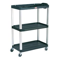 Rubbermaid® FG9T3300BLA MediaMaster 3-Shelf Open Audio-Visual Cart