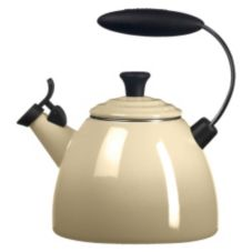 Le Creuset® Q9250-68 Dune White 1.5 Qt. Halo Tea Kettle