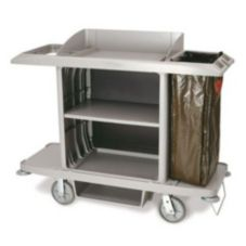 Rubbermaid® FG618900PLAT Platinum Full Size Housekeeping Cart
